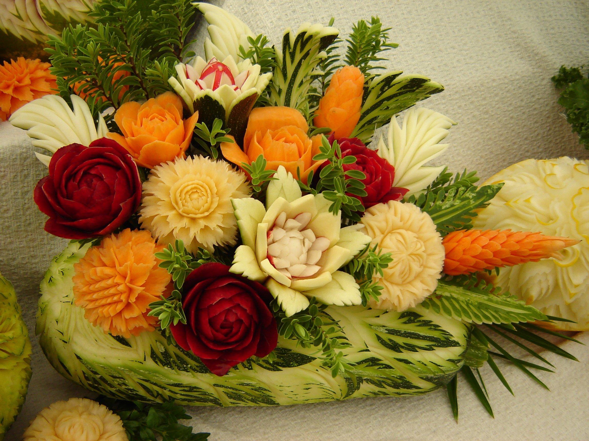 Карвинг цветы пошаговое фото для начинающих