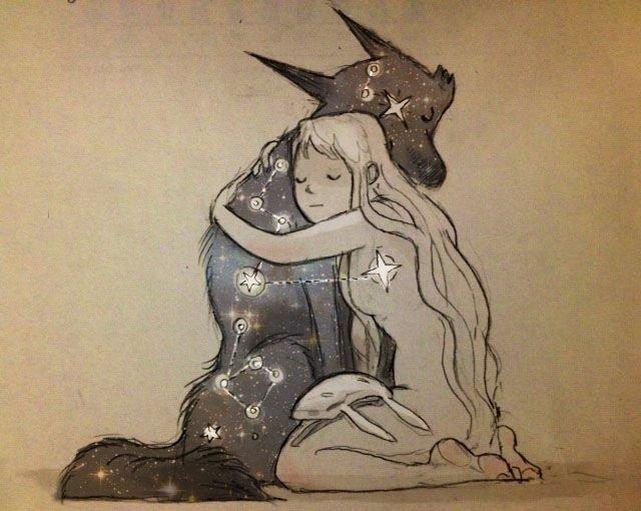 иллюстрации звездный волк фото забыть теории