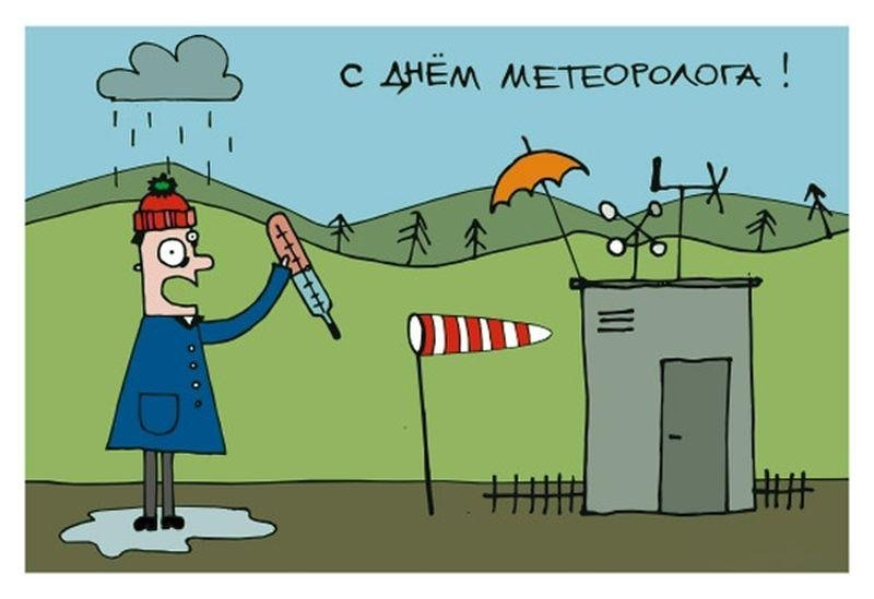 Открытки до дня метеоролога